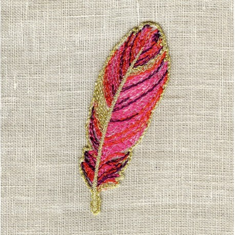 Hot-Melt Motif Feather Fuchsia
