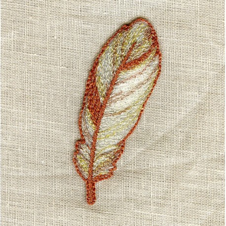 Hot-Melt Motif Feather Copper