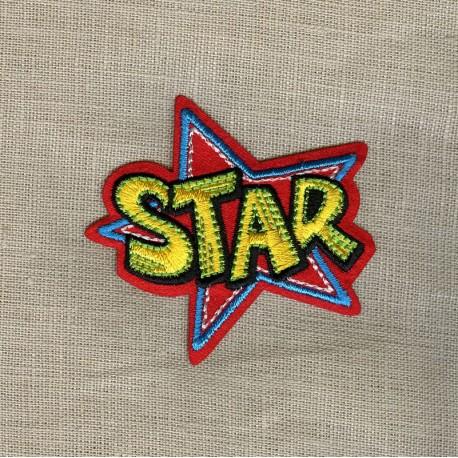 Bubble Cartoon Star! Hot melt Motif