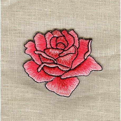 Ecusson La Rose Rose