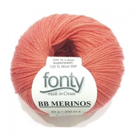 Laine à Tricoter BB MERINOS de Fonty, col. Peach Apricot 832