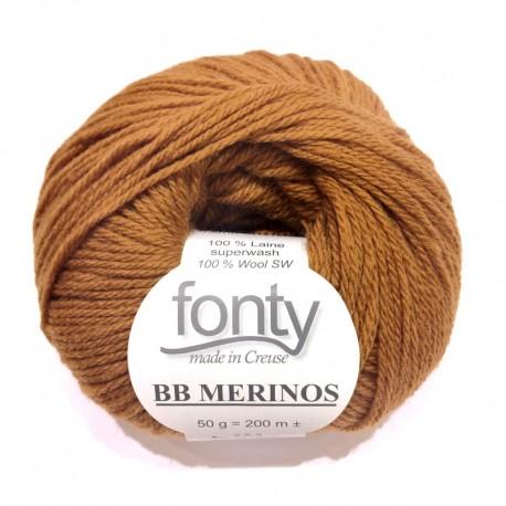 FONTY wool knitting yarn, qual.BB MERINOS, col. Gingerbread 839