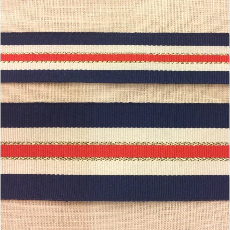 French Flag and Lurex grograin ribbon
