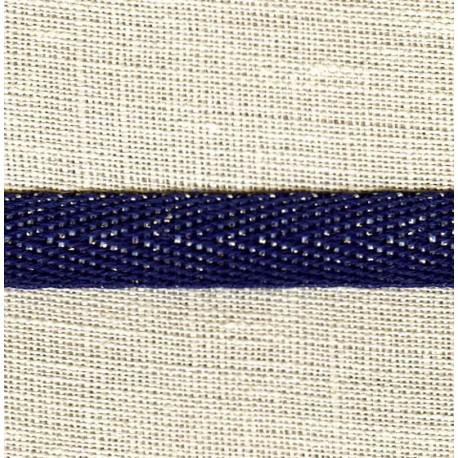 Navy Silver Coton Serge Argent Lurex