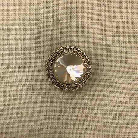 Bouton Strass Empire, col. Diamant