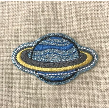 Ecusson Saturne Glitter