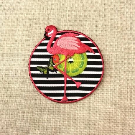 Ecusson Crazy Flamingo