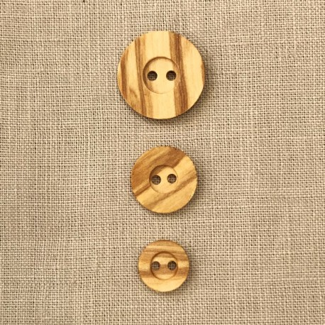Olive Wood Button Respect Nature