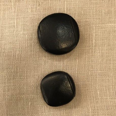 Recouverte de cuir Boutons en tissu
