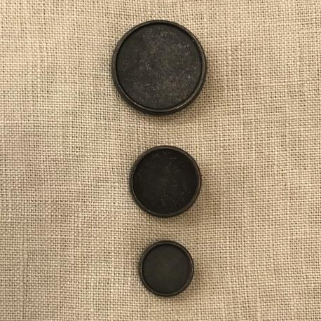 Pawn Metal Button, col. Cannon Grey