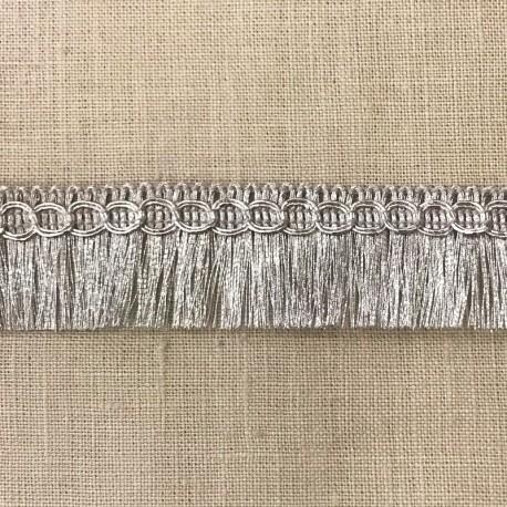 Lurex Fringe Trimming Frangettes, col. Light Silver