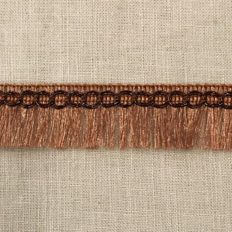Lurex Fringe Trimming Frangettes, col. Copper