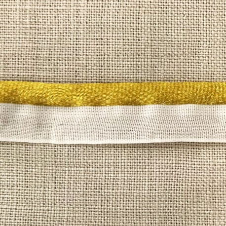 XL Rat tail white piping, col. Imperial Yellow