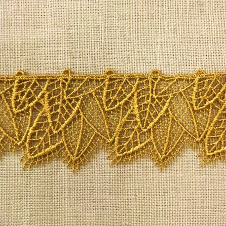 Leaves Lace, col. Mustard