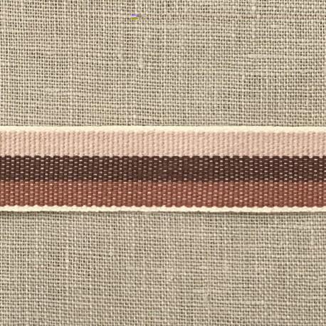 Cotton Taffeta Cotton Stripy, col. Tutu/ Cafe/ Moka 519