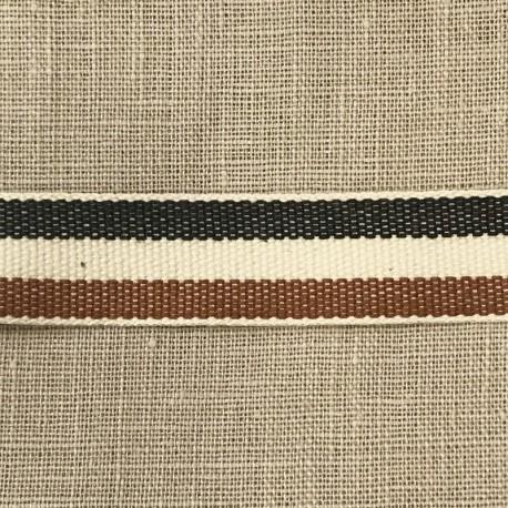 Cotton Taffeta Cotton Stripy, col. Anthracite/ Ecru/ Moka  495