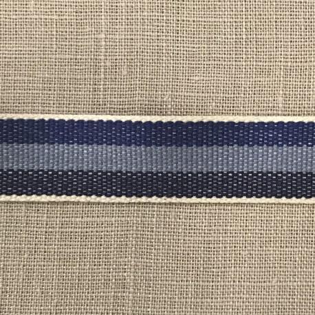 Cotton Taffeta Cotton Stripy, col. Indigo/ Sky/ Navy 319