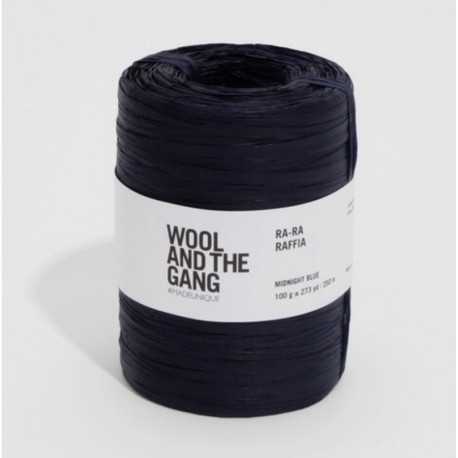Wool And The Gang Crochet Yarn Ra-Ra-Raffia, col. Midnight Blue