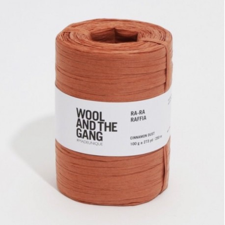 Wool And The Gang Crochet Yarn Ra-Ra-Raffia, col. Cinnamon Dust