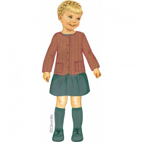 Citronille Pattern N° 222, Quilted Jacket Eulalie. Ages 2. 4. 6. 8 a