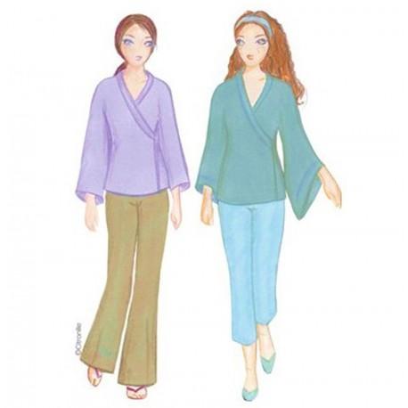 Citronille pattern N°124ter, Kimono May . Sizes 36 to 44