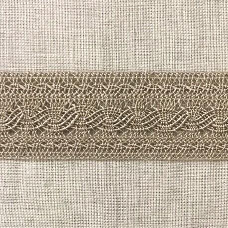 Guipure Entre Deux Ribbon Chainette, col. Linen