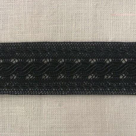 Guipure Entre Deux Ribbon Chainette, col. Noir