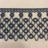 Guipure Ribbon Perlettes Enlacées, Col. Blue Ink