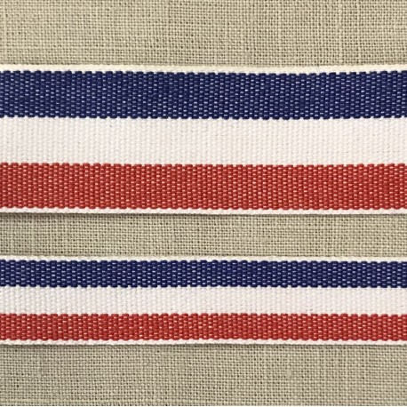 Cotton Chambray Ribbon, col. Flag