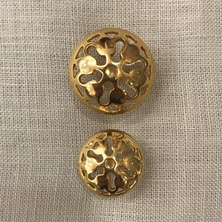 Metal Button Bell, col. Bright Gold