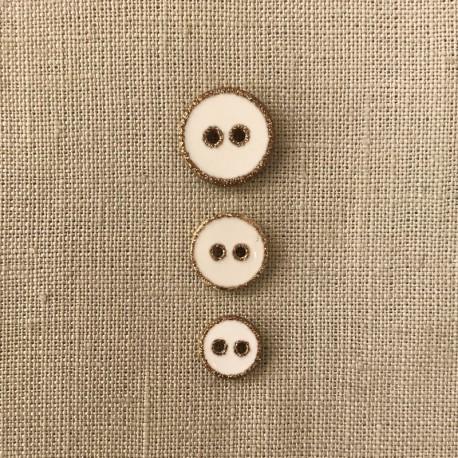 Girly Confettis Polyester Button, col. Snow