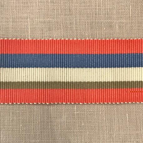 Ribbon Panama, col. Crushed Strawberry, Azur, Ecru, String 293